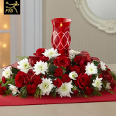 Christmas Centerpiece - Keepsake Glass Hurricane Centerpiece