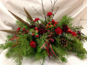 Christmas Centerpiece Natural Glow Holiday Centerpiece in Detroit Lakes, MN | DETROIT LAKES FLORAL