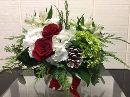 Christmas Charm Centerpiece Posy Vase