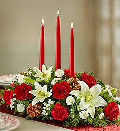 Christmas Centerpiece with Candles Fresh Christmas Arrangement