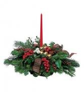 CHRISTMAS CENTIERPIECE SINGLE CANDLE