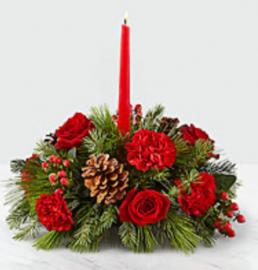 Christmas Centrepiece with candle Christmas