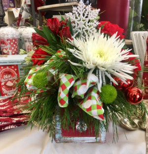 Christmas Cheer  Arrangement in Baton Rouge, LA | TREY MARINO'S CENTRAL FLORIST & GIFTS