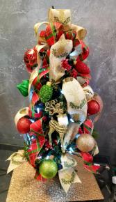 Christmas Cheer Mini Artificial Plug-In Tree