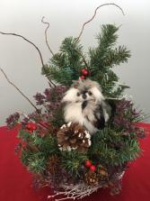 Christmas Christmas centerpiece owl