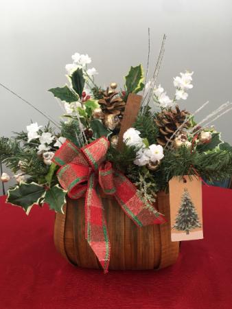 Christmas Christmas Silk Basket arrangement