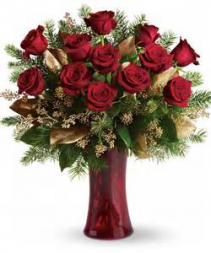 Christmas Classic Red Rose Lavish Collection Roses
