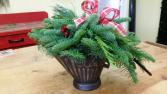 Christmas Coal Bucket Centerpiece