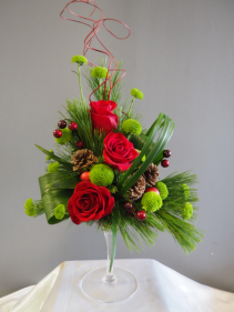 Christmas Cocktail Arrangement