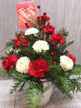 Christmas Coffee Break Bouquet  mug bouquet