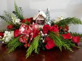 Christmas Cottage  Centerpiece