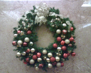 Christmas decoration Christmas wreath   in New York, NY | FLOWERS BY RICHARD NYC