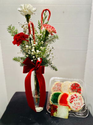 Christmas Delight Carnations & Cookies Christmas in Osage, IA | Osage Floral & Gifts