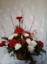 Christmas Delight  Candy Cane Basket