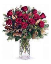 Christmas Dozen Red Roses