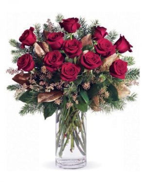 Christmas Dozen Red Roses in Croton On Hudson, NY | Cooke's Little Shoppe Of Flowers