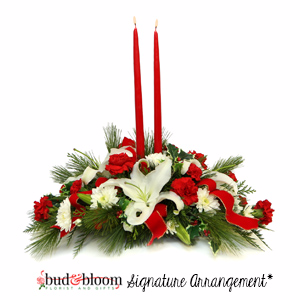 Christmas Elegance Bud & Bloom Signature Arrangement
