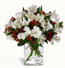Winter Elegance Christmas arrangement