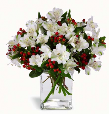 Winter Elegance Christmas arrangement