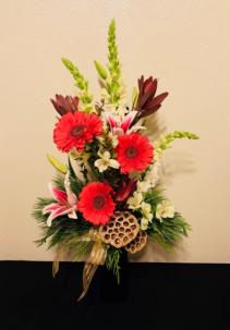 Christmas Elegance Vase Arrangement