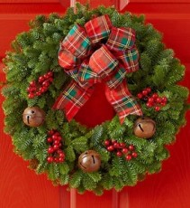 Christmas Faux Pinecone & Cardinal Wreath