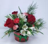 Christmas Fields of Europe Plaid Basket