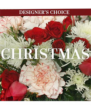 Christmas Flower Arrangement Designer's Choice in Cedar City, UT | Boomer's Bloomers & The Candy Factory