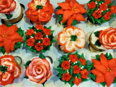 Christmas Flower Cupcakes Sweet Blossoms