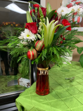 Christmas Fresh Cut Arrangement Town South Floral