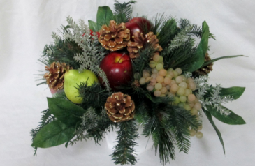 Christmas Fruit Permanent Arrangement by Inspirations Floral Studio