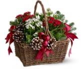 Christmas Garden Basket