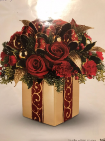 CHRISTMAS GIFT BOX ARRAGEMENT CHRISTMAS ARRANGEMENT