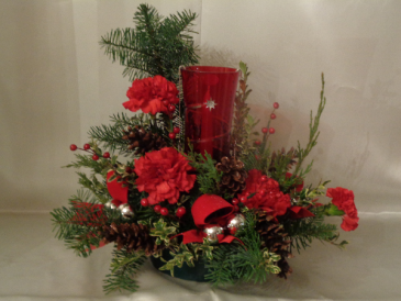 CHRISTMAS GLOBE ARRANGEMENT