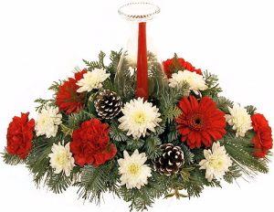 Christmas Glow Centerpiece in Lexington, NC | RAE'S NORTH POINT FLORIST INC.