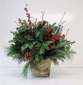 Christmas Greens Floral Arrangement in Colorado Springs, CO | Enchanted Florist II