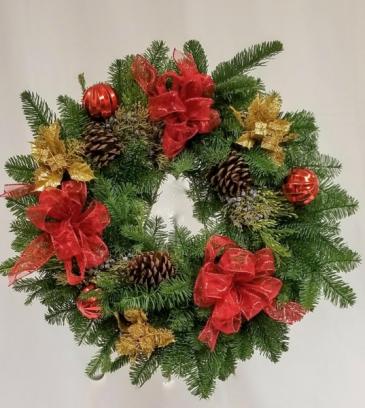 Christmas Greens Wreath Christmas Novelty