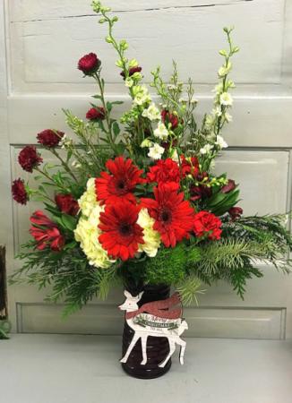 Christmas Greetings  Vase Arrangement