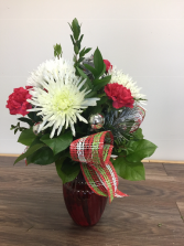 Christmas Holiday Vase arrangement