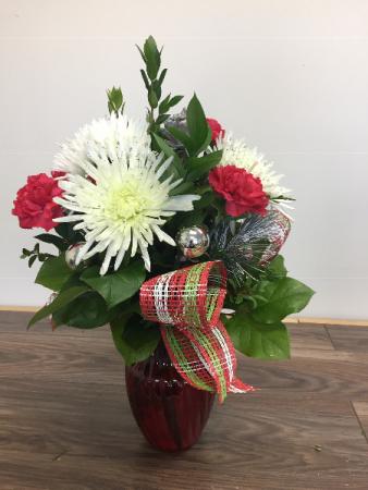 Christmas Holiday Vase arrangement