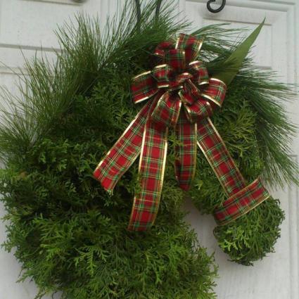 Christmas Horse Wreath Door Hanger