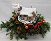 Christmas House Centerpiece (local delivery only)