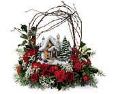 Christmas House w/Arch Centerpiece