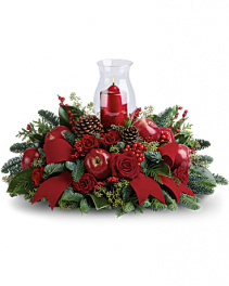 Christmas Hurricane Centerpiece Christmas Centerpiece