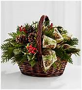Christmas in New England basket