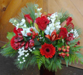 Christmas in the Forest Vase arrangment