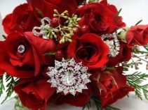 christmas jewels bridal bouquet