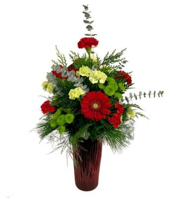Christmas Joy Bud & Bloom Signature Arrangement