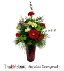 Christmas Joy Bud & Bloom Signature Arrangement