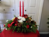 Christmas Joy Candle Centerpiece