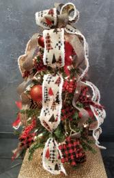 Christmas Joy  Mini Plug-in Artificial Tree